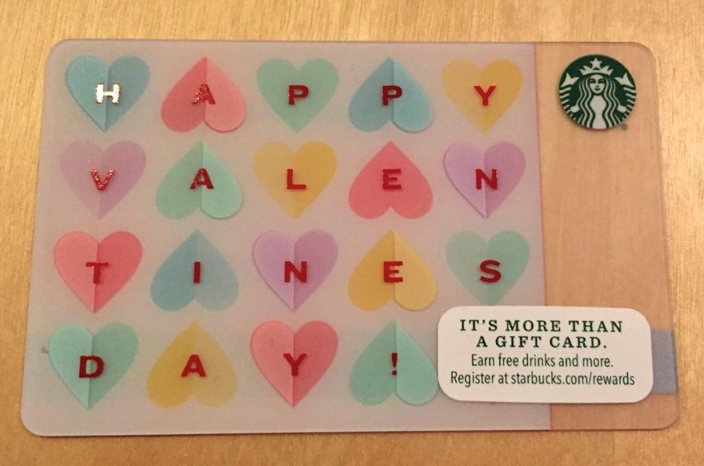 Starbucks Valentine Gift Card